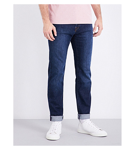 TED BAKER Deetz regular-fit straight jeans (Mid+wash