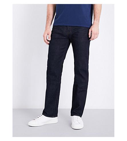 TED BAKER 起源常规版型直牛仔裤 (漂洗 + 牛仔布