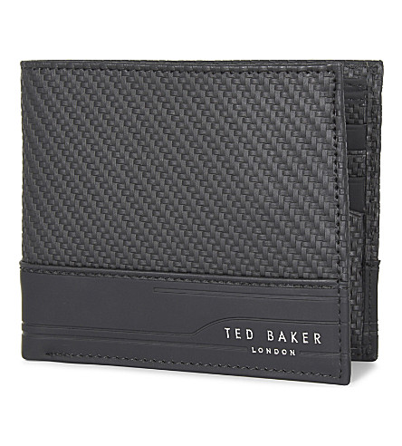 TED BAKER Innova carbon-fibre leather wallet (Black
