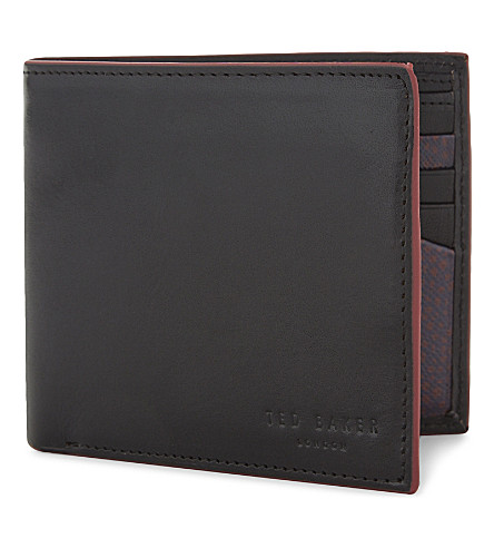 TED BAKER Loganz leather billfold wallet (Black