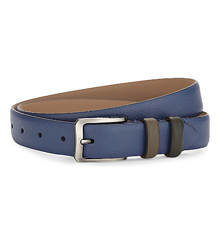 TED BAKER Shrubs two-tone leather belt (Blue