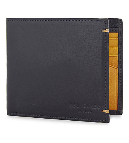 TED BAKER Vivid leather billfold wallet (Blue