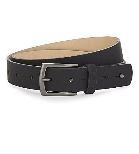 TED BAKER Nettle leather belt (Black