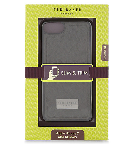 TED BAKER Champy clip-on iPhone 7 case (Black