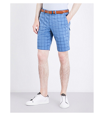 TED BAKER Golfshr stretch-cotton shorts (Blue