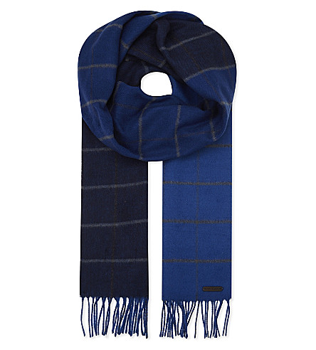 TED BAKER Hemlock ombre checked scarf (Blue