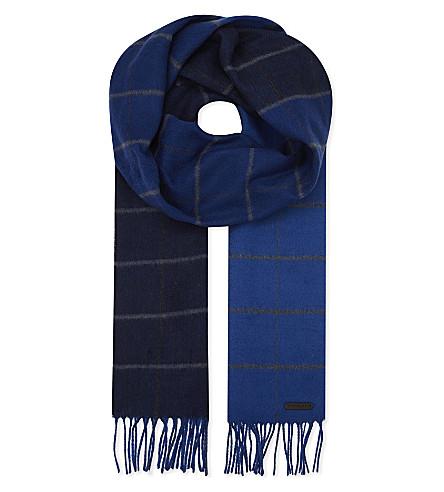 TED BAKER 铁杉贝尔奥伯尔格纹围巾 (蓝色