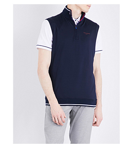 TED BAKER Lag regular-fit stretch gilet (Navy