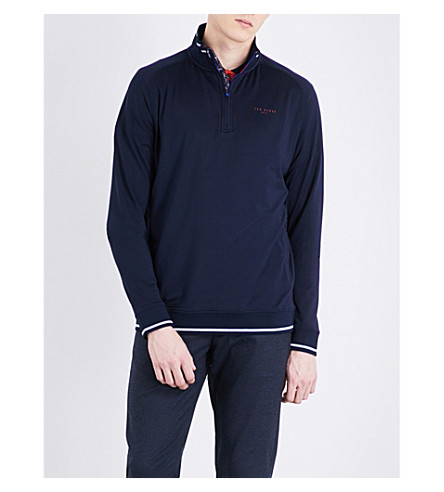 TED BAKER Par zip-up stretch top (Navy