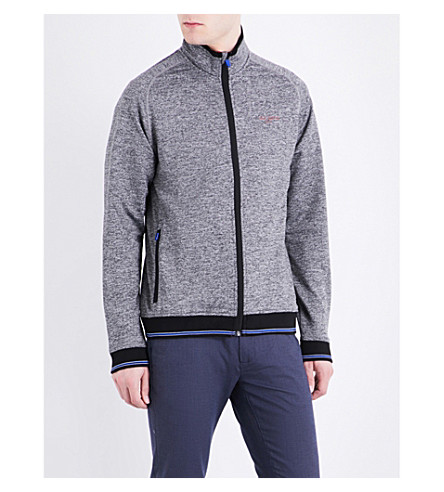 TED BAKER Parway mouliné zip-up jacket (Grey