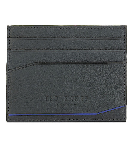 TED BAKER Binxx leather card holder (Dark+green