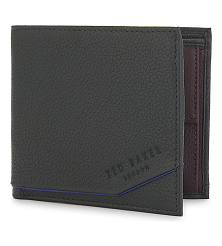 TED BAKER Rajah grained leather wallet (Dark+green