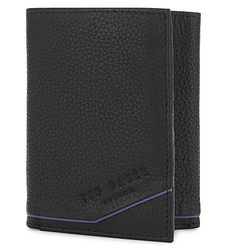TED BAKER Urlion leather tri-fold wallet (Black