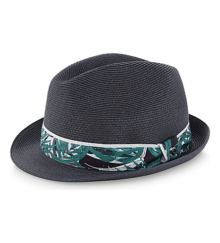TED BAKER Printed trilby hat (Blue