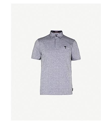 TED BAKER 巴里石灰泥花纹棉质 Polo 衫 (黑色