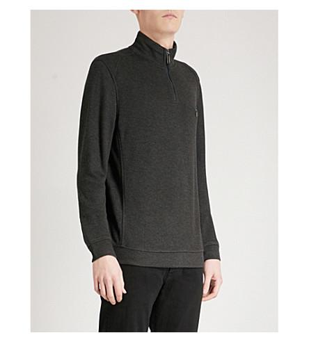 TED BAKER Dotkot funnel-neck knitted jumper (Grey+marl