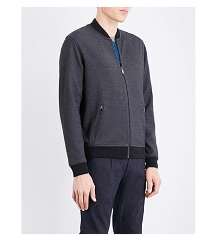 TED BAKER Fowler cotton-blend bomber jacket (Black