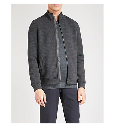 TED BAKER Ken quilted bomber jacket (Charcoal
