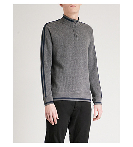 TED BAKER Sindey funnel-neck quilted jumper (Charcoal