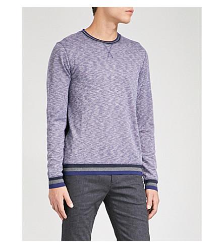TED BAKER Marl patterned-knit jumper (Dark+blue