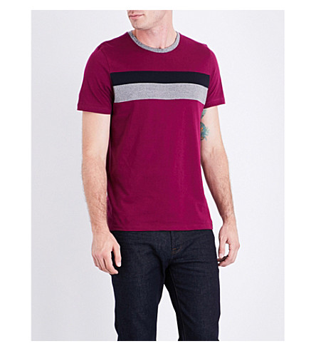 TED BAKER Arther colour-block cotton T-shirt (Fuchsia