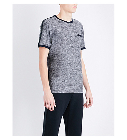 TED BAKER Striped stretch-jersey T-shirt (Grey