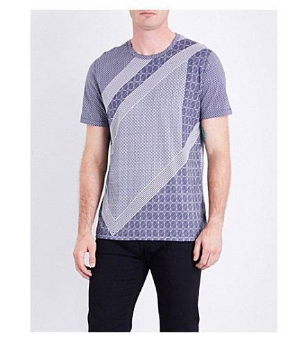 TED BAKER Cropper cotton T-shirt (Blue