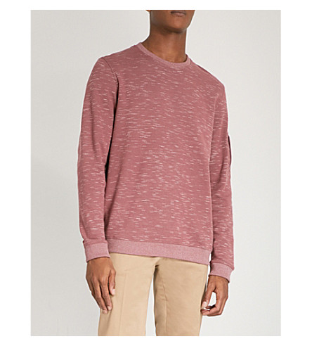 TED BAKER Zip-detail cotton-blend jumper (Dusky+pink