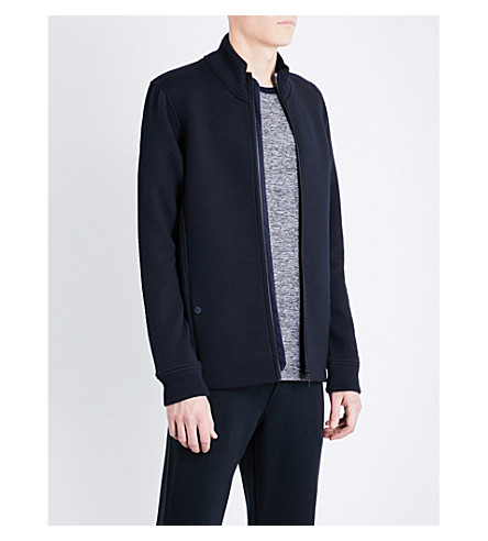 TED BAKER Webstar neoprene bomber jacket (Navy