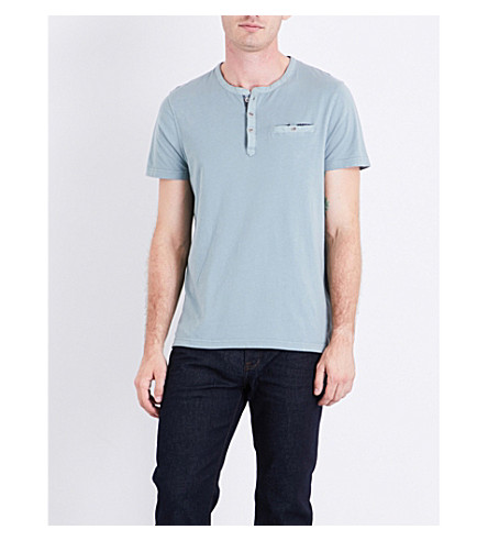TED BAKER Potta cotton Henley T-shirt (Green