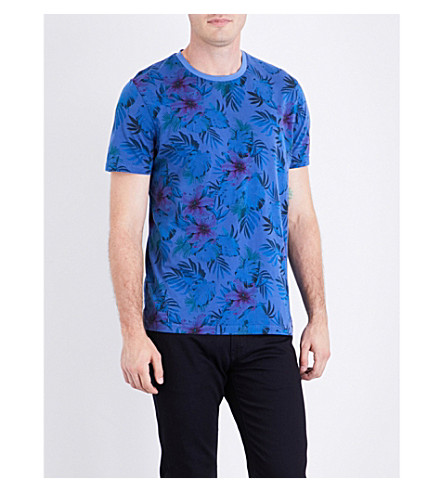 TED BAKER Bartney cotton T-shirt (Blue