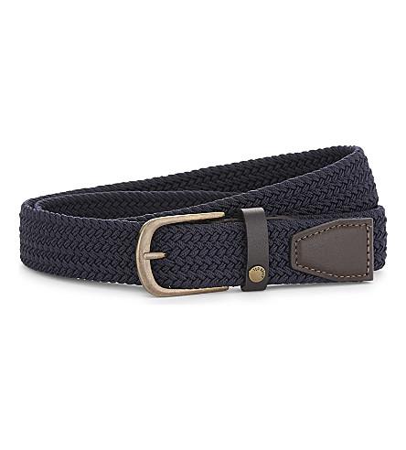 TED BAKER Gerbera woven belt (Navy