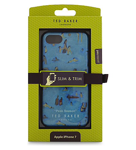 TED BAKER Peak Season beach-print iPhone 7 case (Blue