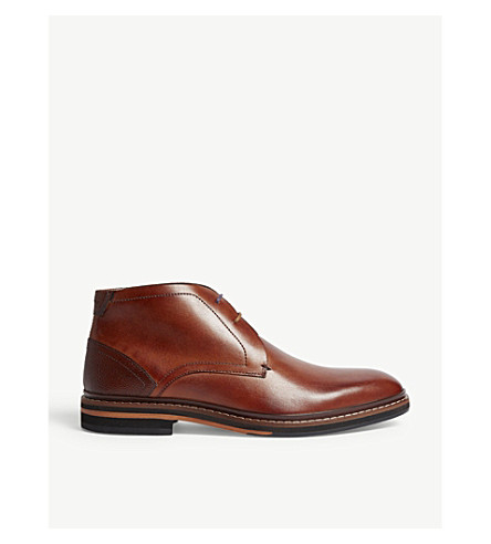TED BAKER Leather Derby boots (Tan