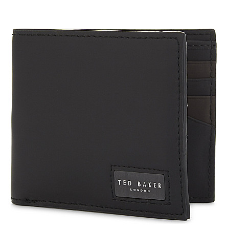 TED BAKER Draggo rubberised leather billfold wallet (Black