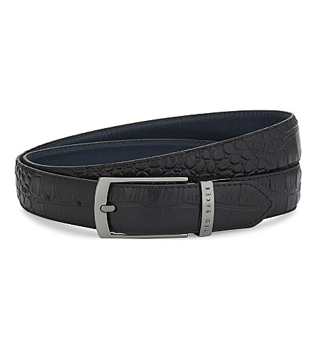 TED BAKER Sunflow reversible leather belt (Black