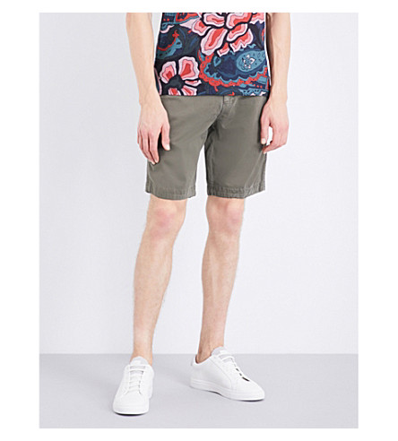TED BAKER Slim-fit stretch-cotton shorts (Khaki