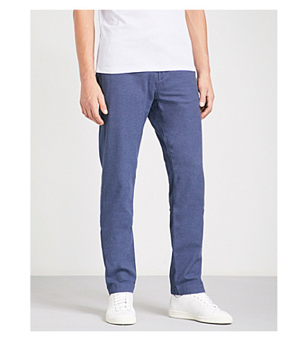 TED BAKER Koossic classic-fit brushed stretch-cotton chinos (Blue