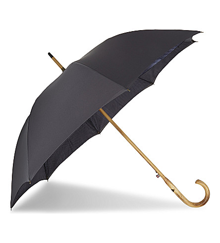 TED BAKER Stormer geometric-print umbrella (Charcoal