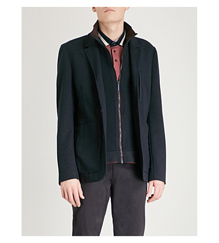 TED BAKER Roy detachable-collar woven jacket (Navy