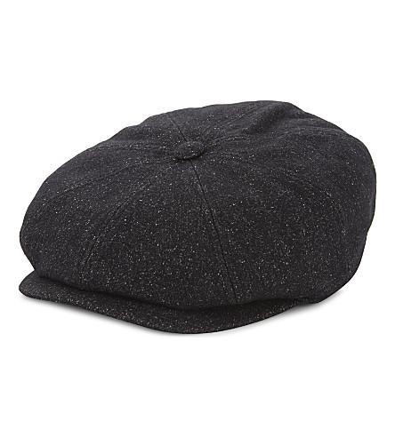 ... TED BAKER Baker boy wool-blend cap (Charcoal. PreviousNext fa690e9fcd5