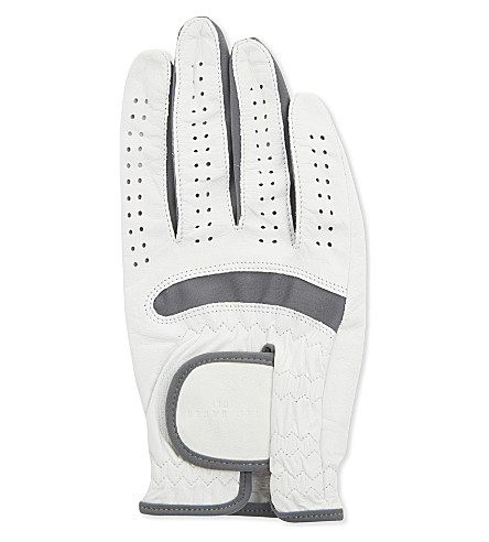 TED BAKER Rightee right-handed leather golf glove (White