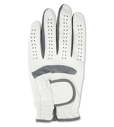 TED BAKER Leftee left-handed leather golf glove (White