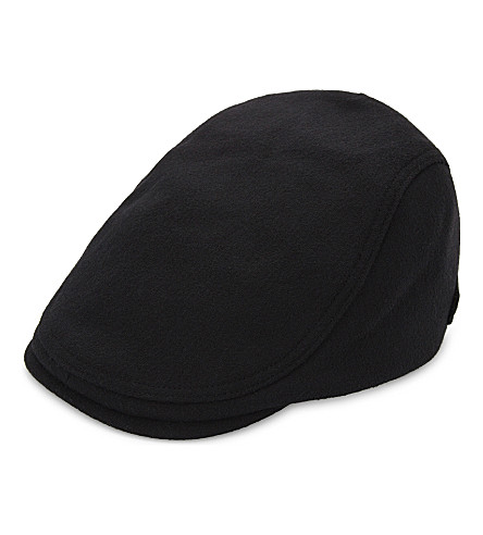 TED BAKER 软木羊毛混纺扁帽 (黑色