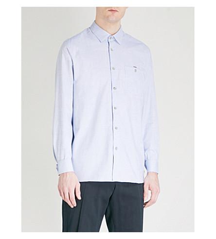TED BAKER Stapal regular-fit cotton shirt (Blue
