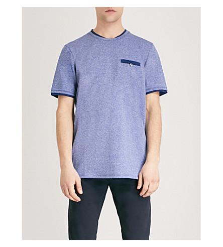 TED BAKER Climb woven T-shirt (Blue