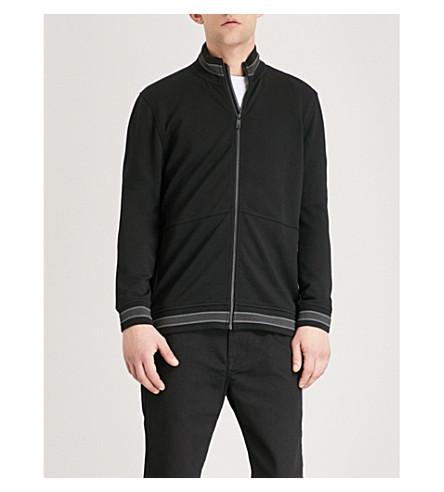 TED BAKER Collie funnel-neck jersey jacket (Black