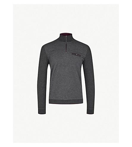 TED BAKER Dotkot funnel-neck knitted jumper (Grey