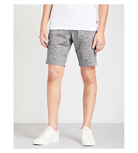 TED BAKER Selfsho stretch-cotton shorts (Grey