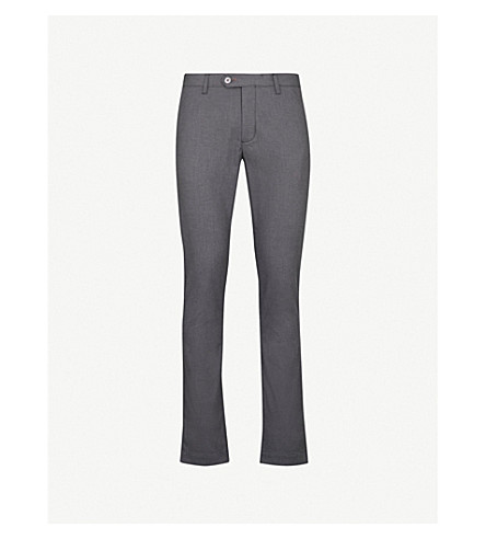 TED BAKER Hollden regular-fit cotton-blend chinos (Charcoal
